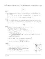 Tuyển tập các bài toán hay về mặt phẳng tọa độ và tọa độ không gian