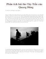 Phân tích bài thơ Tây Tiến của Quang Dũng
