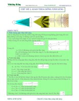 Giao thoa sóng ánh sáng  lý thuyết và bài tập full