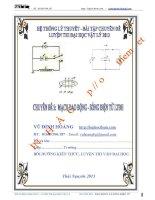 hệ thống lí thuyết và bài tập chuyên đề mạch dao động và sóng điện từ