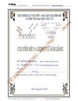hệ thống lí thuyết và bài tập chuyên đề lượng tử ánh sáng