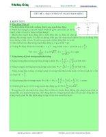 Đại cương về mạch dao động  tóm tắt lý thuyết và bài tập đầy đủ
