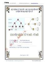 hệ thống lí thuyết và bài tập chuyên đề từ vi mô, vĩ mô