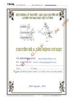 hệ thống lí thuyết và bài tập chuyên đề dao động cơ học