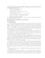 TÍCH HỢP GIÁO DỤC BẢO VỆ MÔI TRƯỜNG TRONG MÔN VẬT LÝ LỚP 8