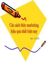 các cách thức marketing hiệu quả nhất hiện nay
