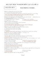 bài tập trắc nghiệm vật lý 12 cực hay (có đáp án)