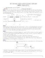 tuyển bộ đề thi học sinh giỏi vật lý 9 có đáp án tham khảo bồi dưỡng học sinh