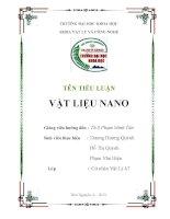 Tiểu luận về Vật liệu NANO