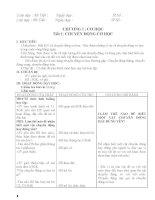 Giáo án vật lí 8 cả năm ( 3 cột chuẩn có cả đề kt và ma trận )
