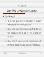 Slide bài giảng môn khoa học quản lý: Chương 5: chức năng lập kế hoạch