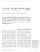 berghe and levrau - 2004 - evaluating boards of directors - what constitutes a good corporate