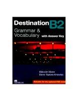 giáo trình destination b2 grammar and vocabulary