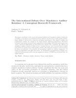 catanach and walker - 1999 - the international debate over mandatory auditor rotation - a conceptual research framework [mar]