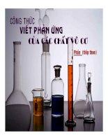 Công thức 2 oxit phản ứng với axit loại 2