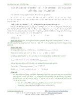 đáp án chi tiết đề thi đh môn hóa
