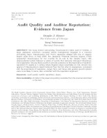 skinner and srinivasan - 2012 - audit quality and auditor reputation- evidence from japan