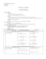 Giáo án chủ đề tự chọn môn toán lớp 11 HKII