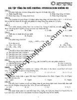115 bài tập trắc nghiệm hóa học có đáp án