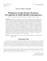 daugherty et al - 2013 - mandatory audit partner rotation- perceptions of audit quality consequences [mapr]
