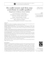 al-thuneibat et al - 2011 - do audit tenure and firm size contribute to audit quality - empirical evidence from jordan [at]