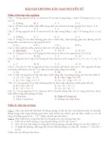 bài tập và giải chương cấu tạo nguyên tử hóa đại cương