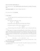 Báo cáo thực hành hóa lý:  xác định hằng số tốc độ của phản ứng bậc hai