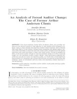 blouin et al - 2007 - an analysis of forced auditor change - the case of former arthur andersen clients