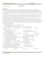 Giáo án phụ đạo tiếng anh 11 cơ bản