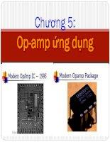 giới thiệu tổng quan về op-amp và ứng dụng