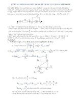 TUyển tập các bài tập về dòng điện xoay chiều trong các đề thi đại học