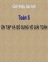 bài giảng toán 5 chương 1 bài 8 ôn tập và bổ sung về giải toán