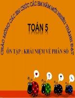 bài giảng toán 5 chương 1 bài 1 ôn tập khái niệm về phân số