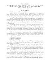 MỘT SỐ BIỆN PHÁP NHẰM PHÁT HUY TÍNH TÍCH CỰC, CHỦ ĐỘNG, SÁNG TẠO CỦA HỌC SINH TRONG GIỜ HỌC KHOA HỌC LỚP 4 ĐẠT KẾT QUẢ CAO