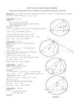 ĐỀ TÀI SÁNG KIẾN KINH NGHIỆM Dạng toán chứng minh về góc với đường tròn qua nhiều cách giải 1 bài toán