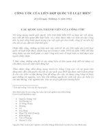 công ước của liên hợp quốc về luật biển