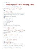 Các chuyên đề ôn thi học sinh giỏi Toán Phương trình và hệ phương trình