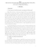 skkn một số kĩ năng rèn đọc diễn cảm cho học sinh lớp 4