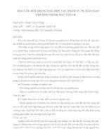 Đặt câu hỏi để  dạy học tác phẩm tự sự dân gian chương trình ngữ văn 10