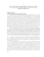 CÁC PHƯƠNG PHÁP PHÂN TÍCH ĐA THỨC THÀNH NHÂN TỬ