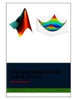 ứng dụng matlab tính tích phân và vẽ đồ thị