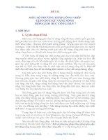 MỘT SỐ PHƯƠNG PHÁP LỒNG GHÉP  GIÁO DỤC KỸ NĂNG SỐNG  MÔN GIÁO DỤC CÔNG DÂN 7