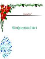 bài giảng đại số 7 chương 1 bài 1 tập hợp q các số hữu tỉ