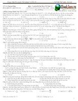 6 đề thi thử đh môn vật lý