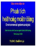 Giáo trình điện tử  phân tích hệ thống môi trường