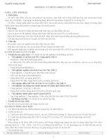 Giáo án hóa 11 bài Amoniac và muối amoni