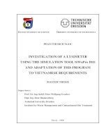 adaptation of this program to vietnamese requirements   ứng dụng phần mềm mô phỏng siwapro dss trong nghiên cứu thẩm kế và bước đầu điều chỉnh phần mềm này cho phù hợp với yêu cầu của việ