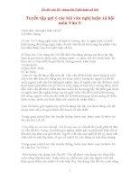 Tuyển tập gợi ý các bài văn nghị luận xã hội môn Văn 9.