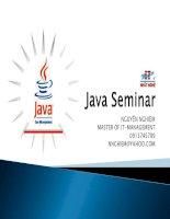 Hội thảo chuyên dề Java