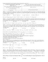 đề thi thử đại học vật lý đáp án chi tiết